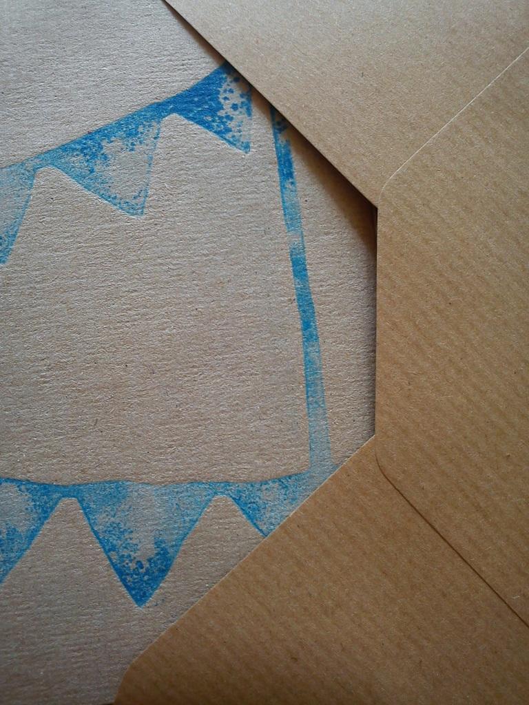 Screenprint and Envelope